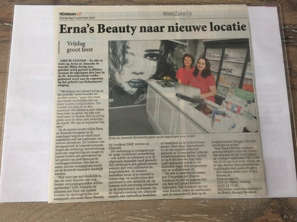 advertentie Erna's Beauty